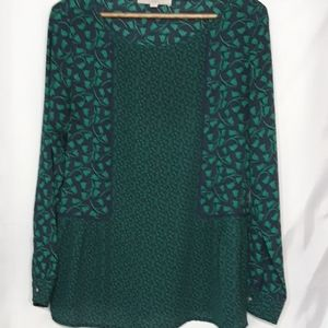 Loft Sz M Flattering style Blue and Green floral